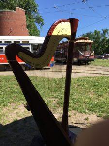harp at Streetcar Museum